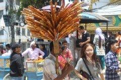 Straßenverkäufer auf Festzug