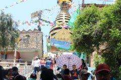 Aufstieg zur Tempelanlage Swayambhunath