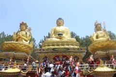 Buddha Garden in Tempelanlage Swayambhunath