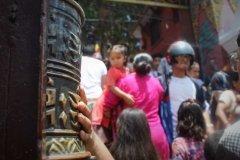 Gebetsmühle in Tempelanlage Swayambhunath