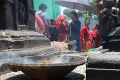 Opferschale in Tempelanlage Swayambhunath