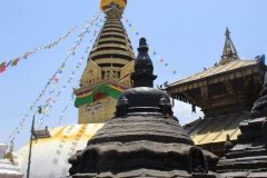 Stupa in Tempelanlage Swayambhunath