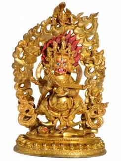 Mahakala - Replika Buddha Statue Vollfeuervergoldet