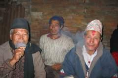 Erster Haarschnitt - Chudakarana - Festmahl - der Parton und seinem Bruder (Birajs Vater)
