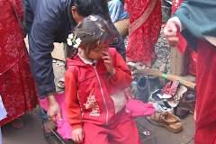 Erster Haarschnitt - Chudakarana - Das Haareschneiden beginnt