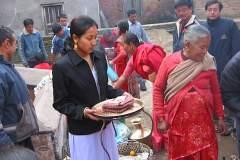Erster Haarschnitt - Chudakarana - Opferteller für die Haare