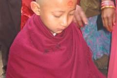 Erster Haarschnitt - Chudakarana - Rasur fertig