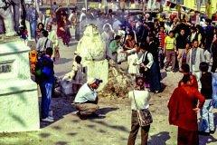 Räucherofen in der Tempelanlage Boudhanat in Kathmandu
