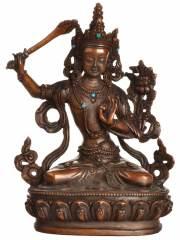 Manjushri Buddha Statue aus Bronze