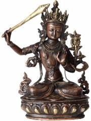 Manjushri Buddha Statue aus Messing
