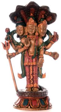 Hinduistische Trinität - Brahman Vishnu und Shiva als Trimurti