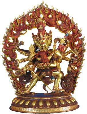 Chakrasambhava Statue Vollfeuervergoldet