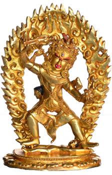 Ekajati Blaue Tara Statue Vollfeuervergoldet