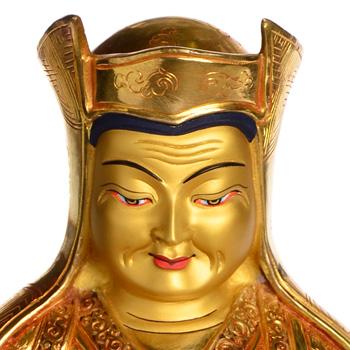 Gampopa Ausschnitt vom Kopf mit Mönchshut