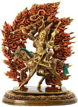 Gesar of Ling Statue Feuervergoldet