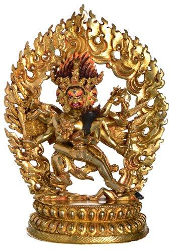 Hayagriva Statue Vollfeuervergoldet