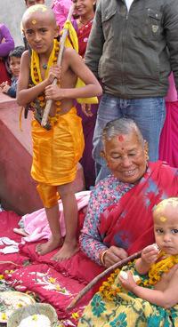 Hindu Kind in Kathmandu, Nepal