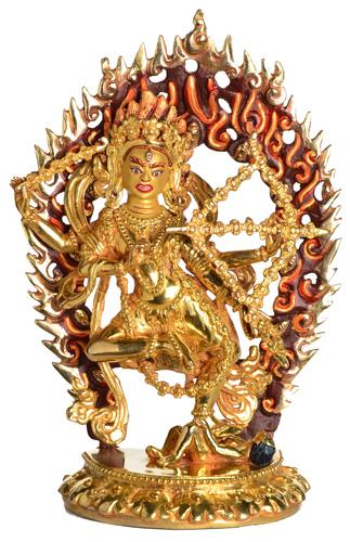 Kurukulla Rote Tara Statue Vollfeuervergoldet