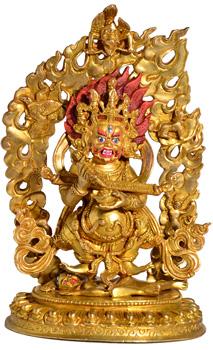 Mahakala Statue Vollfeuervergoldet