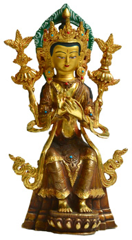 Maitreya Statue Feuervergoldet