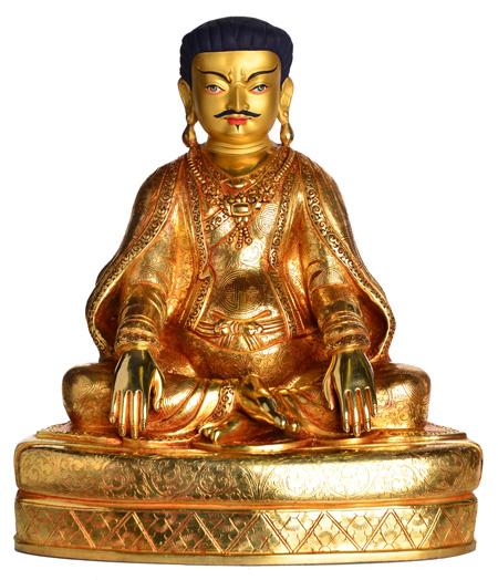 Marpa Statue Vollfeuervergoldet