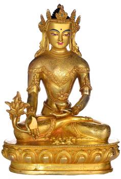 Medizinbuddha Statue Vollfeuervergoldet