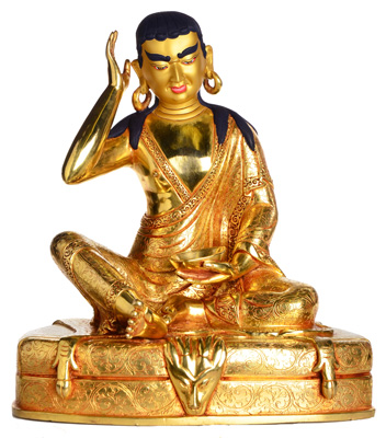 Milarepa-Statue-Vollfeuervergoldet