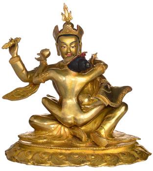 Padmasambhava mit Mandarava Statue Vollfeuervergoldet