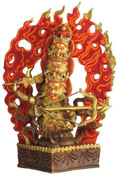 Rahula Statue Feuververgoldet