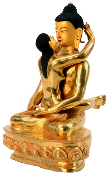 Samantabhadra Statue Vollfeuervergoldet