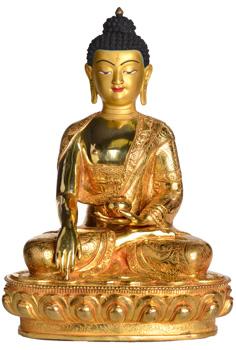 Shakyamuni Statue Vollfeuervergoldet