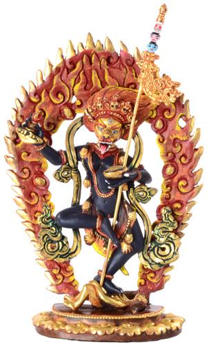 Simhamukha Statue Feuervergoldet