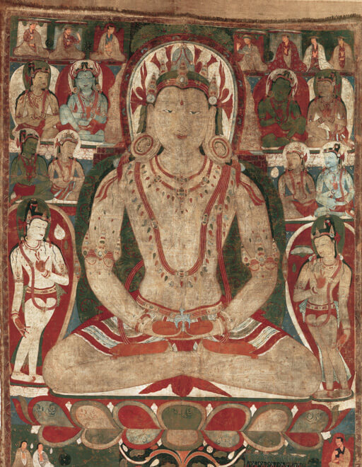 The Buddha Amitayus Attended by Bodhisattvas - 11th or early 12th century - Tibet - MET