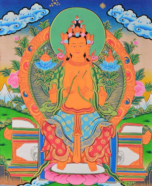 Thangka Maitreya
