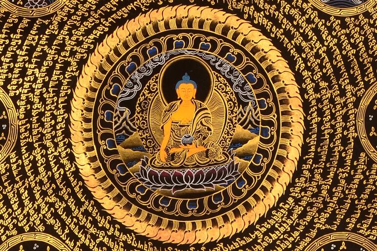 Thangka Shakyamuni Ausschnitt