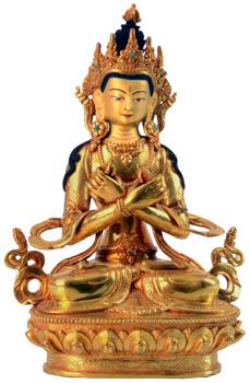 Vajradhara Statue Vollfeuervergoldet