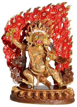 Vajrapani Statue Feuervergoldet