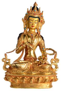 Vajrasattva Statue Vollfeuervergoldet