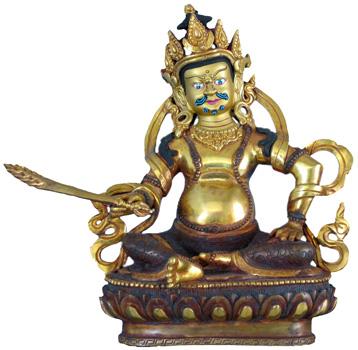 Virudhaka Statue Feuervergoldet