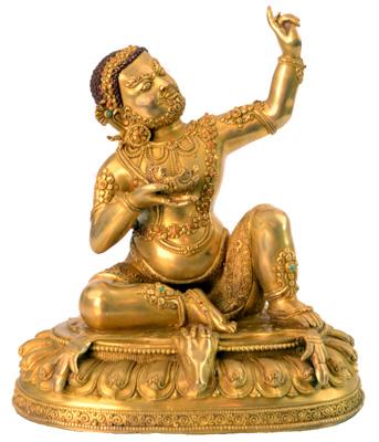 Virupa Statue Vollfeuervergoldet