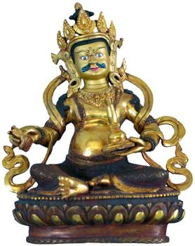 Virupaksa Digpala Statue-Feuervergoldet
