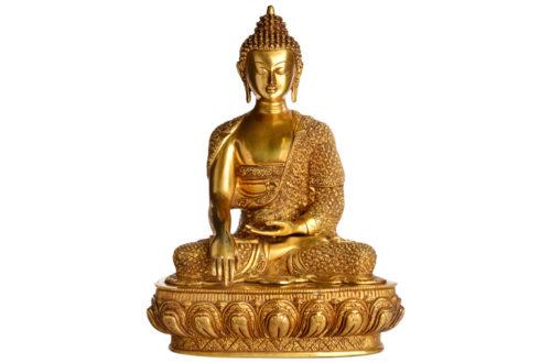 Akhsobhya Buddhafigur aus Messing