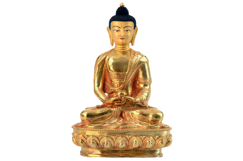 Amitabha Statue Vollfeuervergoldet