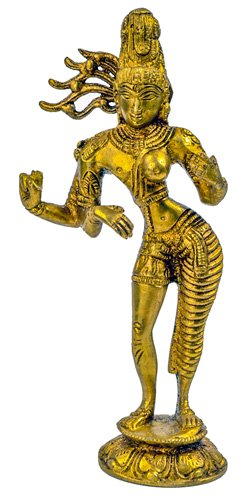 Ardhanarishvara Statue Messing