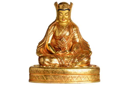 Gampopa Statue Vollfeuervergoldet