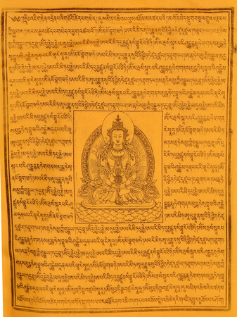 Gebetsfahnen Mikha Dhadok in Gelb - Verwendung Hilfe
