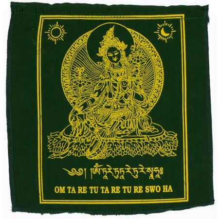 Gebetsfahnen Tara in Grün - Verwendung Hilfe