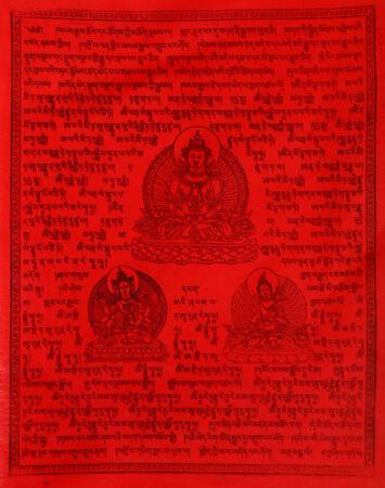 Gebetsfahnen Chh La Nu Sum / Men Lah Shung Rot Verwendung Krankheit