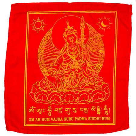 Gebetsfahnen Guru Rinpoche in Rot - Verwendung Gottheiten