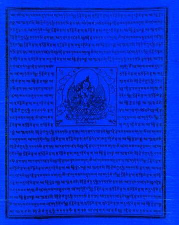 Gebetsfahnen Hee-Ghya in Blau - Verwendung Todesfall